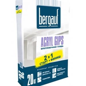 Шпатлевочная гладь Bergauf Acryl Gips 2 в 1 старт-финиш, 20кг