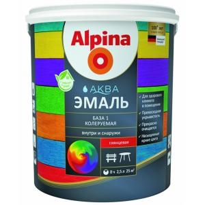 Эмаль акриловая Alpina Аква эмаль, глянцевая, База 3, 2,35л