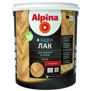 Лак акриловый Alpina Аква Лак для паркета и полов, глянцевый, 0,9л