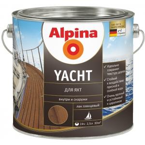 Лак для яхт Alpina Yacht, глянцевый, 2,5л