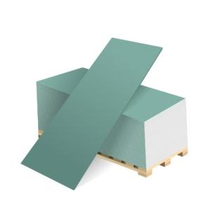 Гипсокартон стеновой влагостойкий (ГКЛВ) Белгипс 2500x1200x12,5мм (3 м.кв)