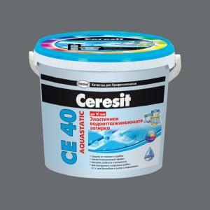 Фуга эластичная водостойкая Ceresit СЕ 40 Аквастатик, №16 графит, 2кг
