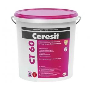 Декоративная акриловая штукатурка Ceresit CT 60, с зерном 1,5мм, 25кг