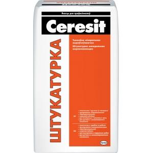 Штукатурка цементная выравнивающая Ceresit, 25кг