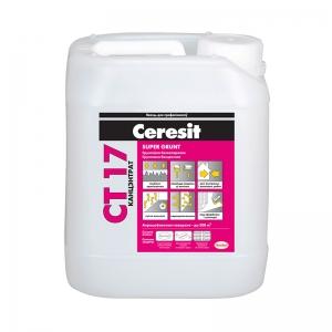 Грунтовка бесцветная, концентрат Ceresit CT 17 Super Grunt, 10л