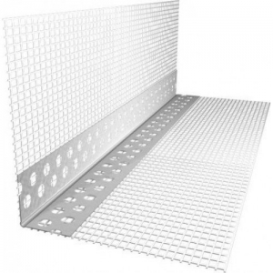 Уголок штукатурный алюминиевый с сеткой А-0,22-18,5-3000-75, РБ.