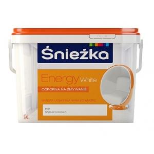 Краска латексная матовая Sniezka Energy White, 3л