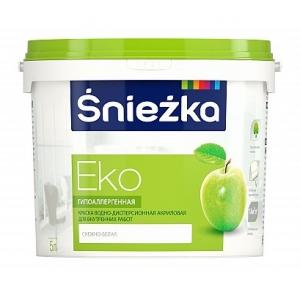 Краска акриловая гипоаллергенная Sniezka Eco снежно-белая, 10л