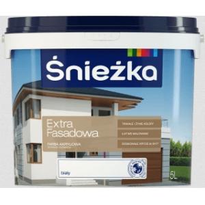 Краска акриловая фасадная Sniezka белая, 3л