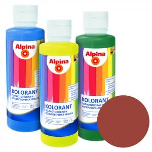 Краситель Alpina Kolorant Rotbraun (красно-коричневый), 0,5 л