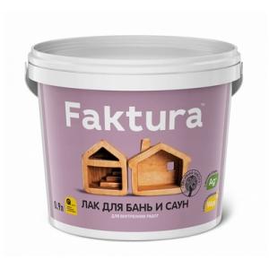 Лак для бань и саун FAKTURA шелковисто-матовый, 0,9л