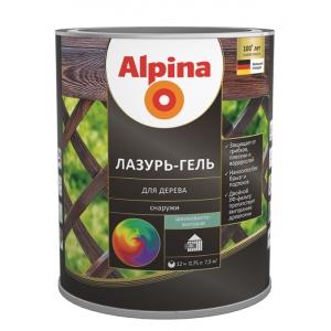 Лазурь-гель для дерева Alpina шелковисто-матовая, палисандр, 0,75 л