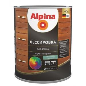 Лессировка для дерева Alpina шелковисто-матовая, палисандр, 2,5л