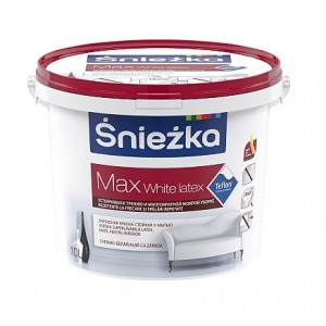 Краска латексная Sniezka Max White latex, 10л