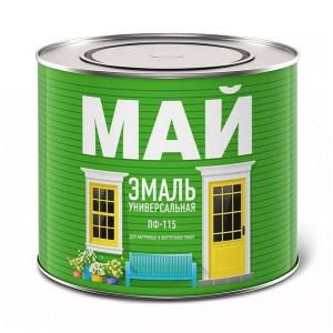 Универсальная эмаль МАЙ ПФ-115 желтая, 0,8кг