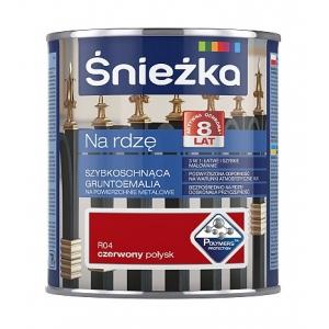 Грунт-эмаль для металла Sniezka Na Rdze PMat черный, 0,65л
