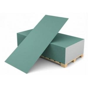 Гипсокартон Норгипс GKBI влагостойкий 12,5х1200х2600 мм (3,12м2)