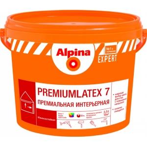 Краска дисперсионная износостойкая Alpina EXPERT Premiumlatex 7, 2,5л