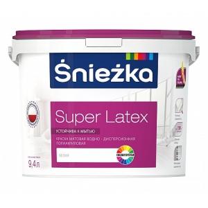 Краска полиакриловая матовая водно-дисперсионная Sniezka Super Latex, 4,7л