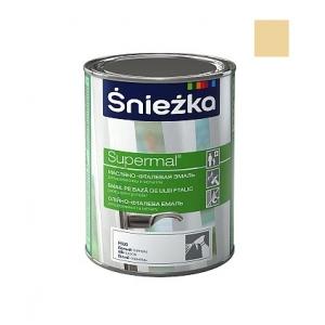 Масляно-фталевая эмаль Sniezka Supermal глянцевая кремовая, 0,8л