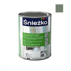 Масляно-фталевая эмаль Sniezka Supermal глянцевая пепельная, 0,8л