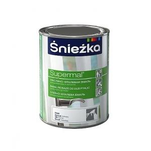 Масляно-фталевая эмаль Sniezka Supermal глянцевая белая, 0,8л