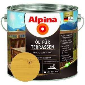 Масло для террас Alpina ?l f?r Terrassen, светлый, 2,5л