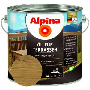 Масло для террас Alpina ?l f?r Terrassen, средний, 2,5л