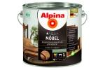Лак мебельный Alpina Aqua M?bel, шелковисто-матовый, 2,5л