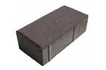 Плитка тротуарная «Прямоугольник» серая, П20.10.6-Цч-а В22,5 3%, 198x98x60мм