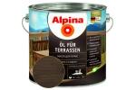 Масло для террас Alpina Öl für Terrassen, темный, 2,5л
