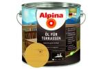 Масло для террас Alpina Öl für Terrassen, светлый, 2,5л