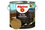 Масло для террас Alpina Öl für Terrassen, средний, 0,75л