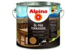 Масло для террас Alpina Öl für Terrassen, прозрачный, 0,75л