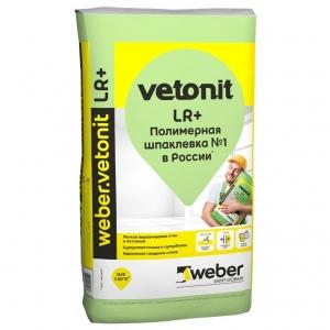 Шпаклевка полимерная финишная weber.vetonit LR+, 20кг